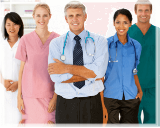 five medical professionals